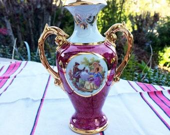 French Limoges porcelain vase