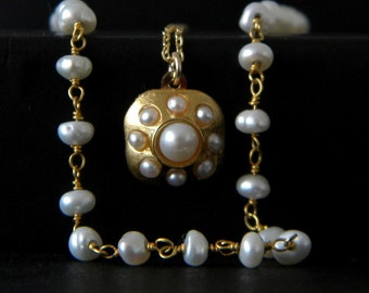 Freshwater Pearl Bohemian Layered Rosary Necklace