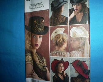 Simplicity 8361 Sm-Med-Lg Fashion Hats.