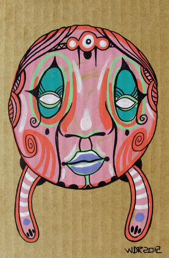 Pinked - Original Illustration on Cardboard