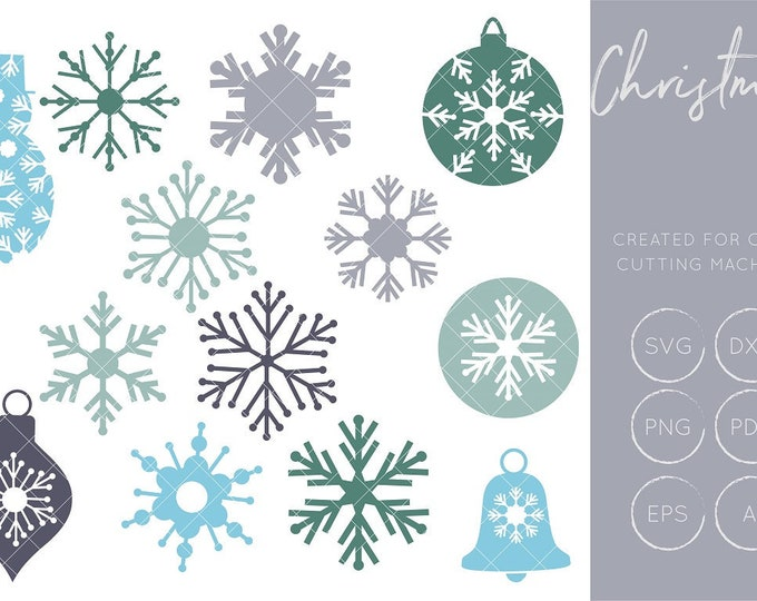 Snowflakes SVG, Snowflake Cut Files