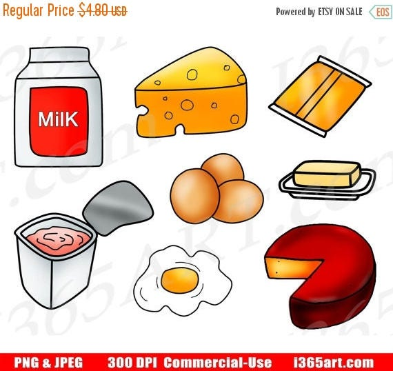 50 off dairy clipart dairy food clip art food groups rh etsy com clipart dairy cows daily clipart