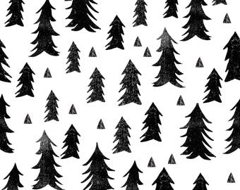 forest trees by Andrea Lauren -  black and white minimal baby nursery scandi trees by andrea lauren