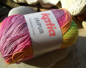 Remnants-Katia-Spain fibres-jaipur-gradient yarn 100% cotton-50 ball-in 2 colours