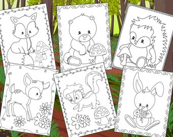 Animal coloring page | Etsy
