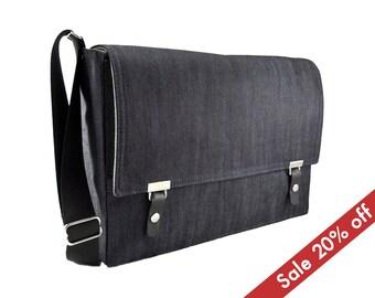 """13"""" MacBook Air messenger bag - dark denim"""
