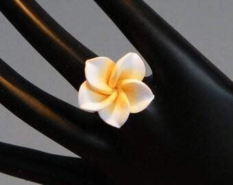 Ring Fimo flower