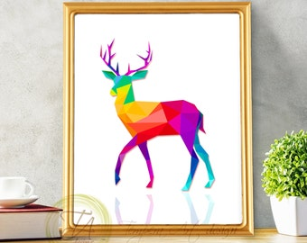 Deer Art» Deer Print» Deer Art Print» Deer Wall Art» Geometric Deer Print» Deer Art Decor» Deer Geometric Print» Deer Animal Printable