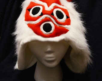 Princess Mononoke Mask Hat Costume Plush San Cosplay