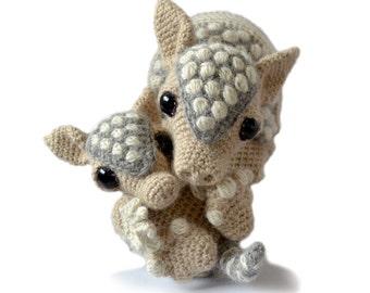 Armadillo Amigurumi Crochet Pattern Bundle PDF Instant Download - Tilda and Earl