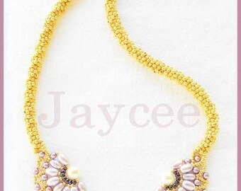 Beading Tutorial - Pearl filigree necklace - Netting Stitch