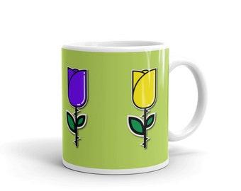 Mug made in the USA flower design