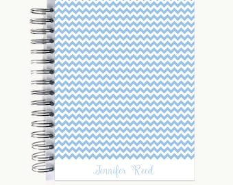 Bullet Journal – Personalized   Spiral   Dot Grid   Notebook   Chevron