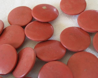 Set of 18 ANTIQUE Red Rubber Composition BUTTONS