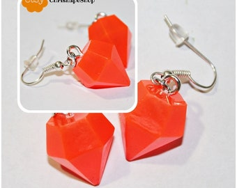 Micro ' diamond ' resin earrings (4 different colors)