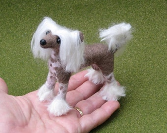 Needle Felted Dog / Custom Pet Portrait / Lifelike Poseable Artist Sculpture / small size