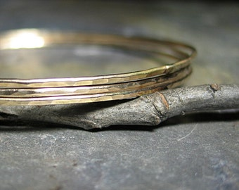 1 single Skinny gold-filled bangle - Make Your Own Stack