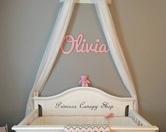Crib Canopy, FREE SHEERS,Princess Crib Decor ,royal Nursery Wall Bed Crown,