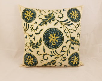 Hand Embroidered Suzani Pillow Cover msp798, Suzani Pillow, Suzani Throw, Boho Pillow, Suzani, Decorative pillows, Accent pillows