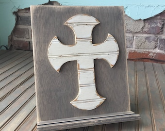 Cross Wooden Tablet Stand, Cookbook Stand - many colors available - for the Pinterest lover