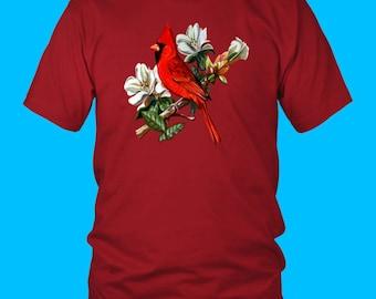 Cardinal Bird, Red Cardinal Bird, Cardinal On A Branch, Cardinal Bird Watcher, Cardinal Art, Red Cardinal Gift, Cardinal Design, Flying Bird