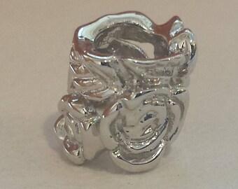 14 k white gold rose flower pendant