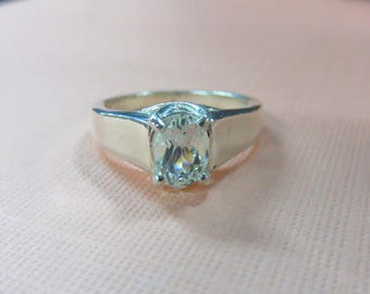 Goshenite Ring - Women's Size 7 1/8 Goshenite & Sterling Silver Ring - Extremely Unique Goshenite Gemstone