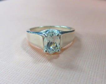 Goshenit Ring - Damen Größe 7 1/8 Goshenit & Sterling Silberring - extrem einzigartige Goshenit Edelstein