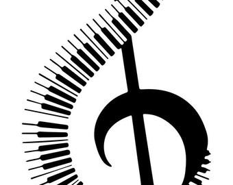 Treble Clef Piano Pattern