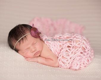 Knit Newborn Wrap, Newborn Girl Blanket, Newborn Girl Wrap, Newborn Photo Prop Blanket, Newborn Blanket Prop Newborn Photo Prop Wrap Knit