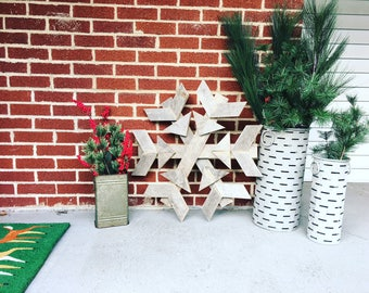 Wooden Snowflakes | Winter Decor | Christmas Decor | Porch Decor