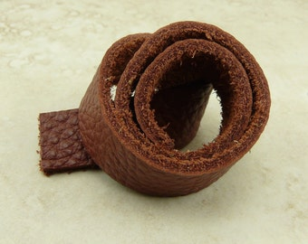 TierraCast Leather Strap - Rust Red Brown - 10 Inch x 1/2 Inch 25.5cm x 13mm - Jewelry Bracelet Design - I ship Internationally