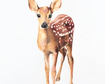 nursery animal prints, woodland nursery prints, woodland deer art print, animal nursery art, kids room decor, nursery decor,nursery wall art