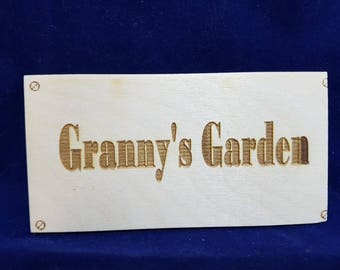 Handmade birchwood plaque sign