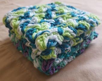 Multicolored Textured Dishcloths