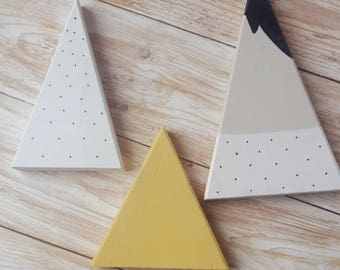 Scandi inspired wooden peaks (set of 3)