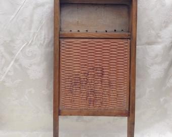 Antique Washboard with Ceramic Insert - Farmhouse Decor - Laundry Room Decor