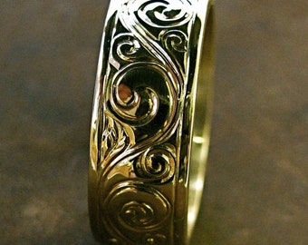 Hand Engraved Wedding or Anniversary Band