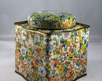 Retro Wild Flowers Tin