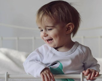 Babygrow - Organic Romper - Baby Onesie - Baby Clothing - Panda Babygrow - Baby Gift - Baby Romper