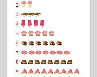 Counting Sweets Print