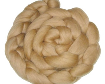 Choose Your Brown: 100 gm Fine Merino Combed Top in Shades of Browns and Beige for Spinning, Felting