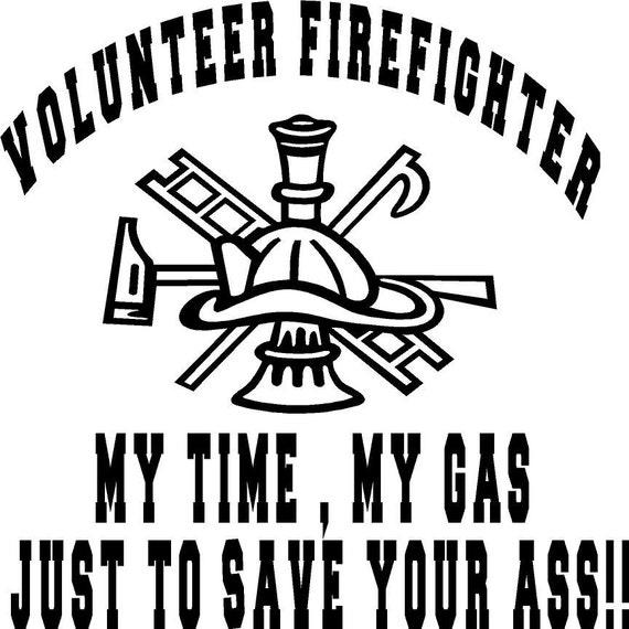 Volunteer Firefighter vinyl decal for car truck apparatus from  aimvinylsigns on Etsy Studio