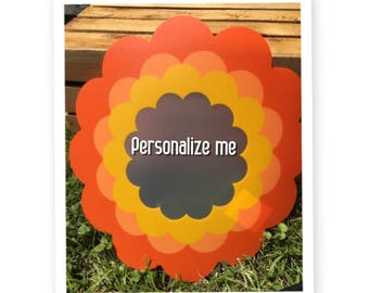 Personalized, plastic place mats
