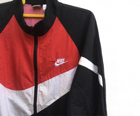 Large 90s Nike Size Vintage Colour Swoosh Block Big Windbreaker Logo zPxxTdwq