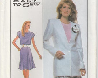 Easy Jacket Pattern Flared Skirt Womens Plus Size 22 - 24  Uncut Simplicity 9010