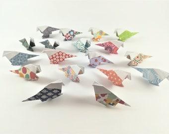 Small origami Birds (18PZ) 7.5 x 7.5 cm