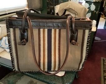 Upcycled fabric tote/handbag