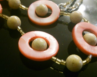 Mother of Pearl rings - chain