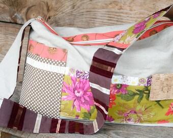 Weekender Duffle Bag, XL Large Diaper Tote Bag, Tote Bag, Handbag, Funky Keeta Collection Tote,  Overnight Duffle Bag, Linen Weekender